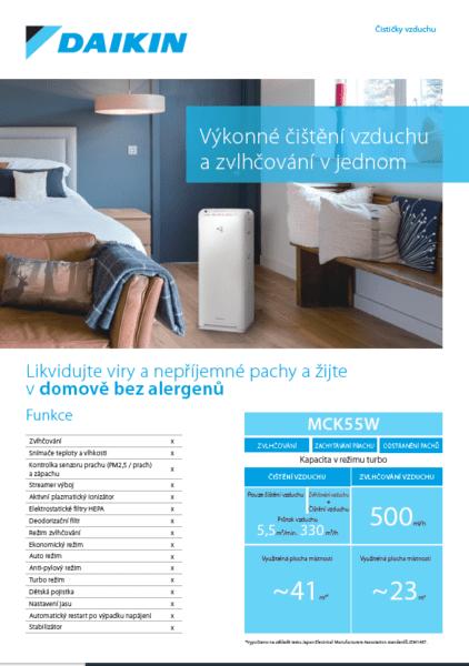 Čistička vzduchu Daikin MCK55W - ceník